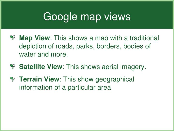 Google map views