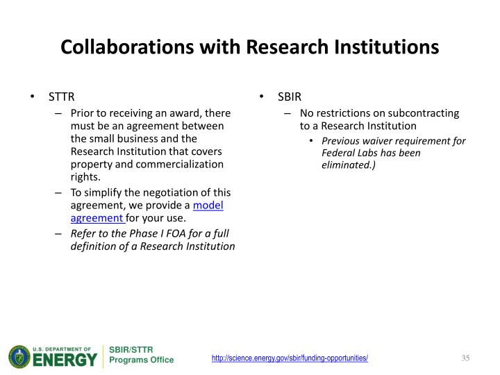 Collaborations with Research Institutions