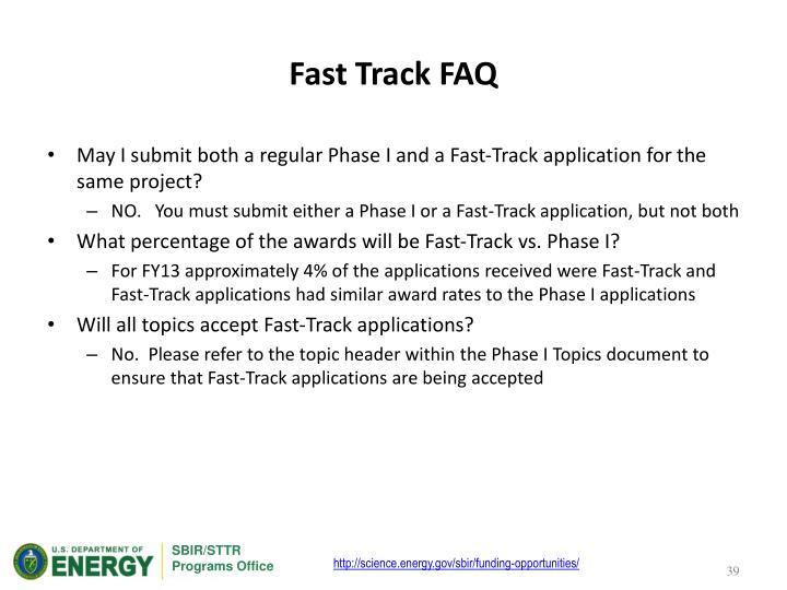 Fast Track FAQ