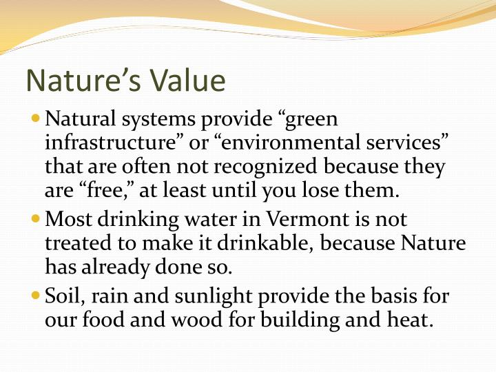 Nature s value