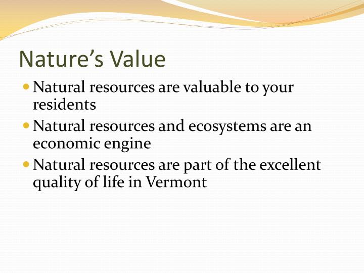 Nature's Value