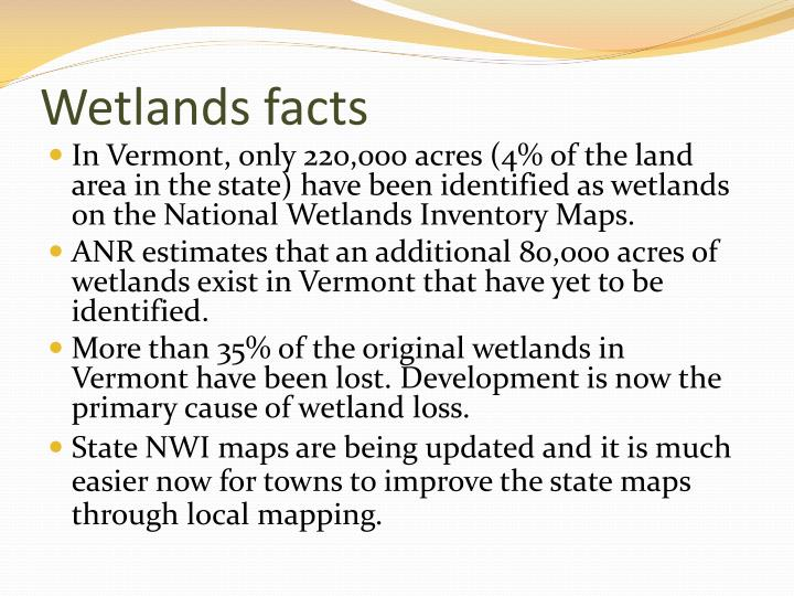Wetlands facts