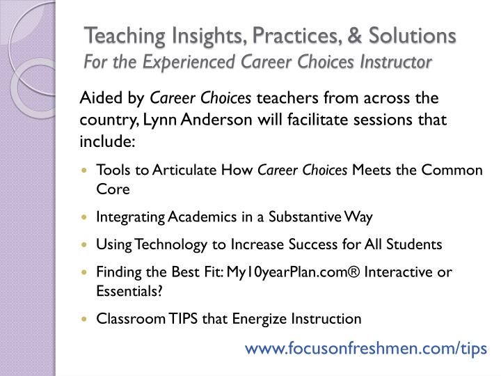 Teaching Insights, Practices, & Solutions
