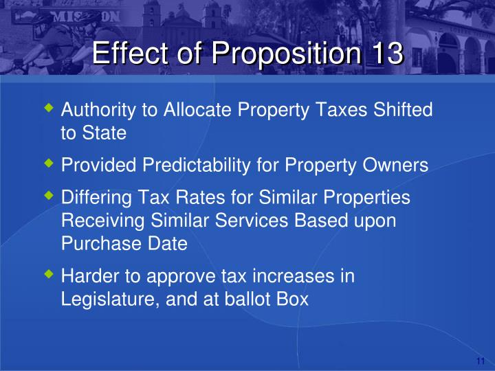 Effect of Proposition 13
