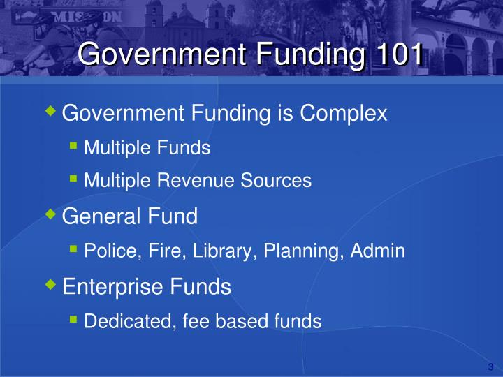 Government funding 101