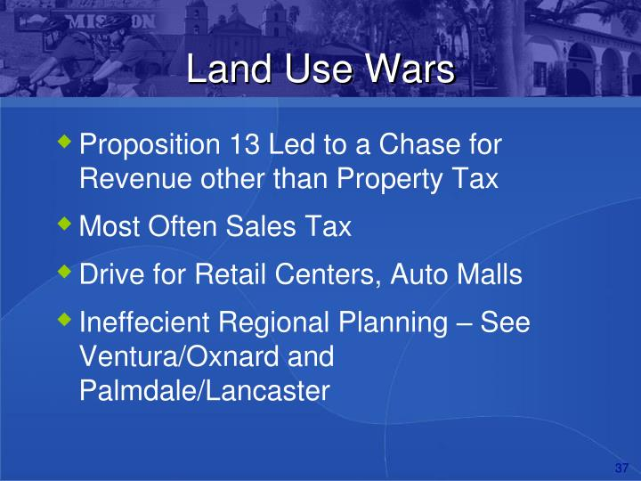 Land Use Wars