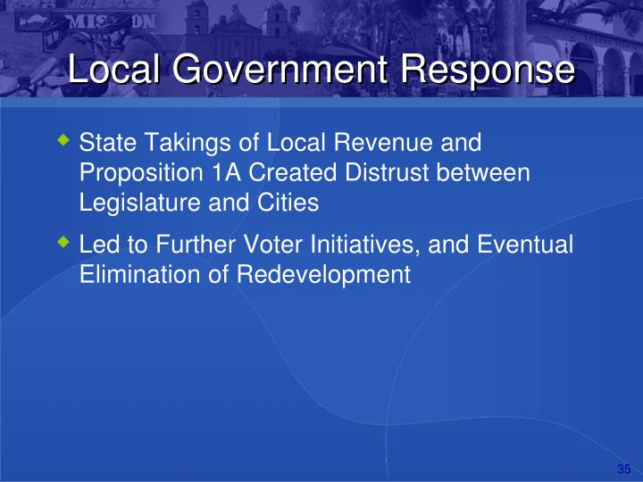 Local Government Response