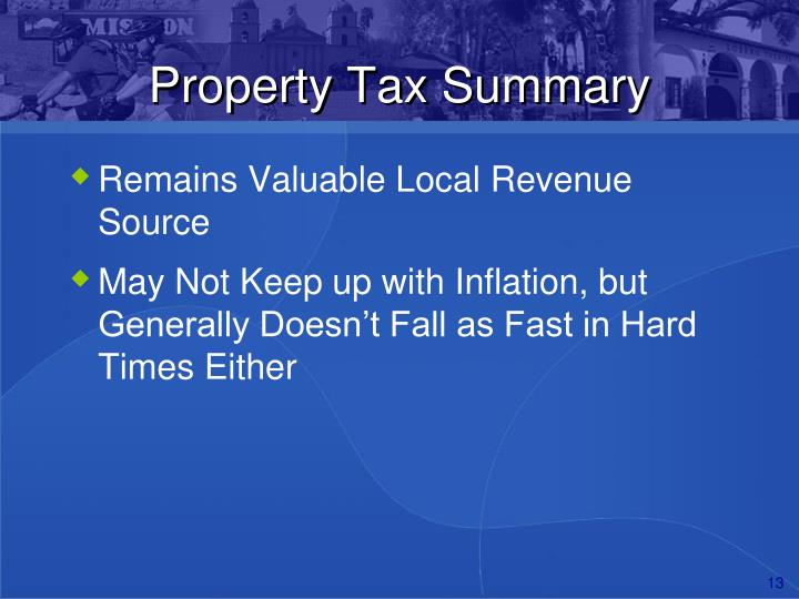 Property Tax Summary