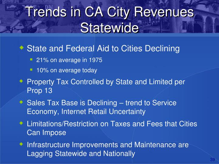 Trends in CA City