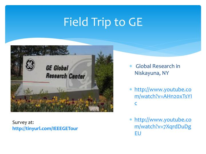 Field Trip to GE