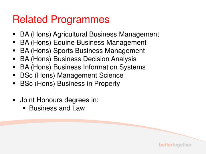 Related Programmes