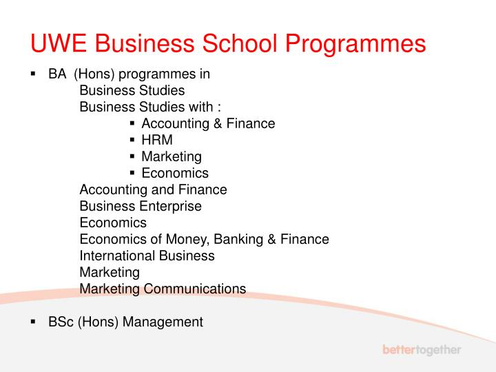UWE Business School Programmes