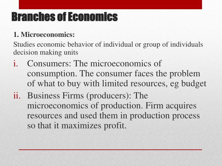 1. Microeconomics: