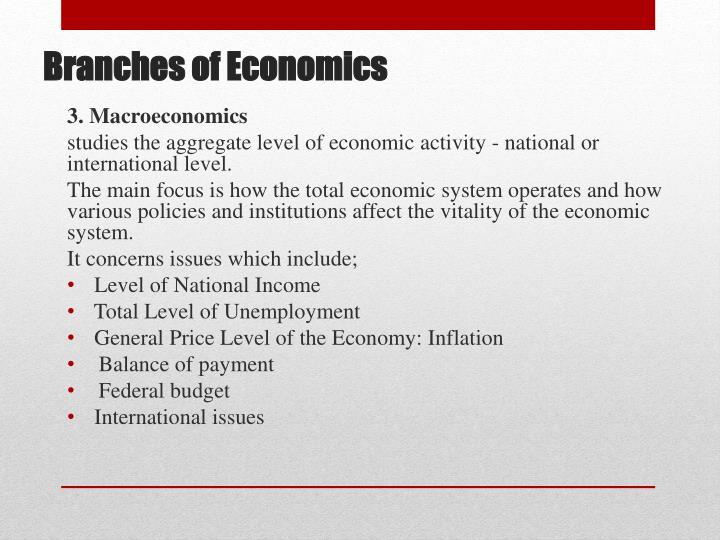 3. Macroeconomics