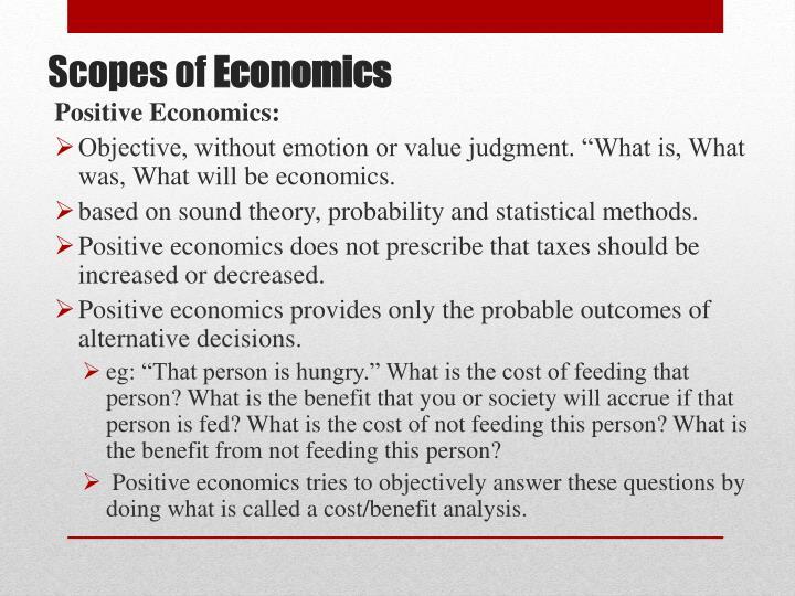 Positive Economics: