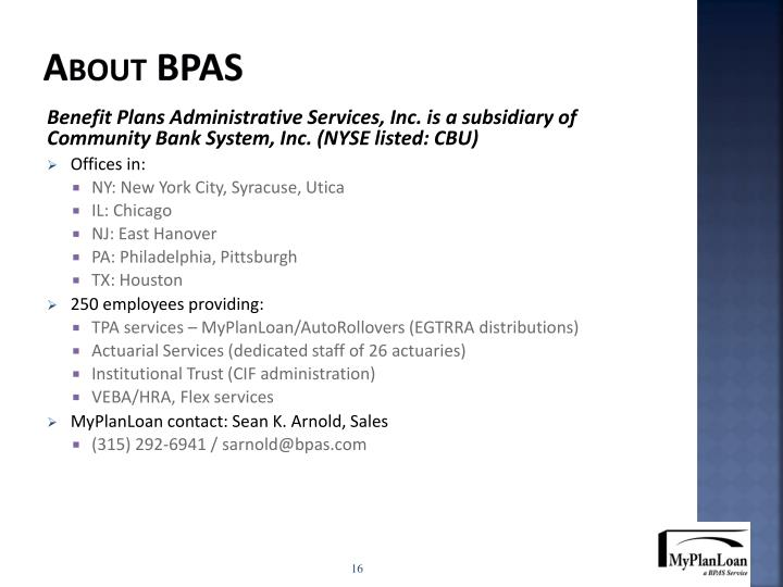 About BPAS