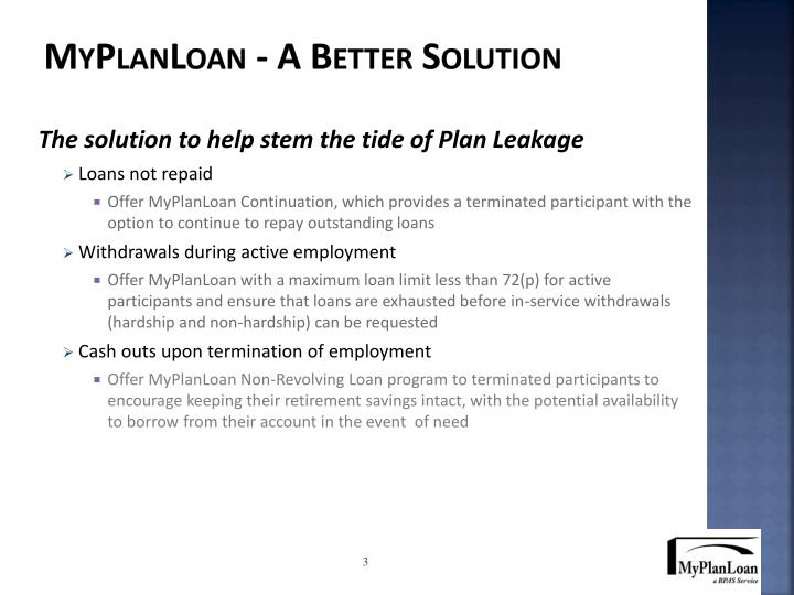 Myplanloan a better solution