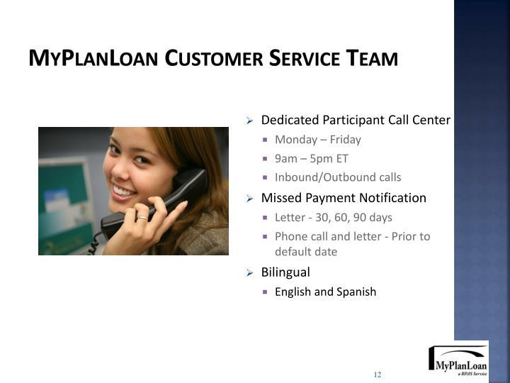 MyPlanLoan Customer Service Team