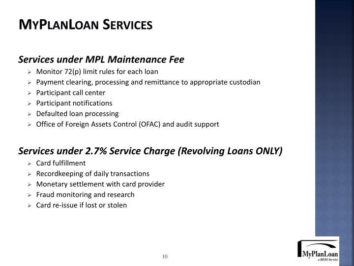 MyPlanLoan Services