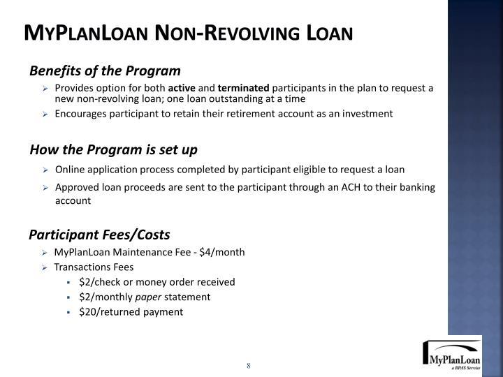 MyPlanLoan Non-Revolving Loan
