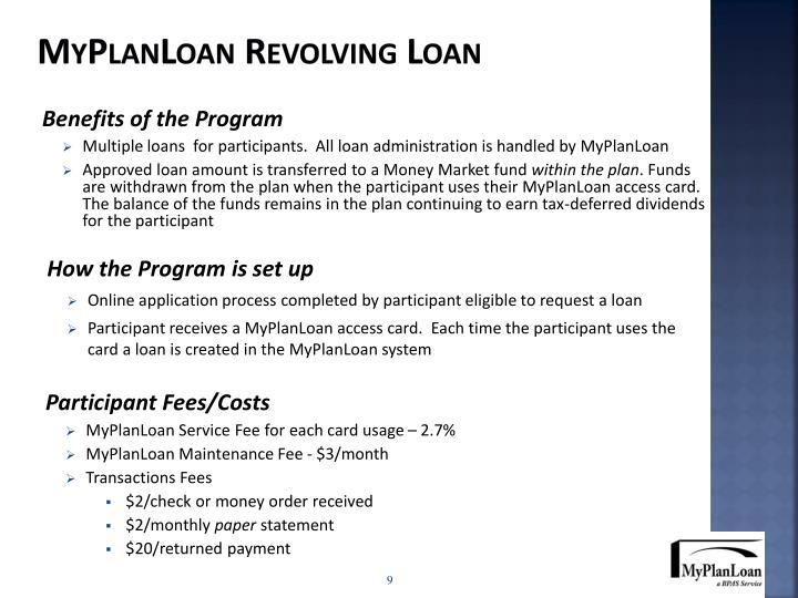 MyPlanLoan Revolving Loan