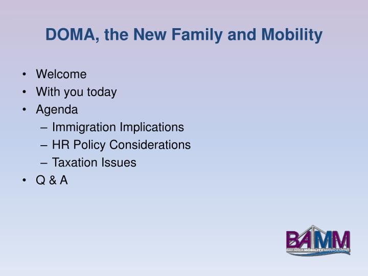 DOMA, the New Family and Mobility