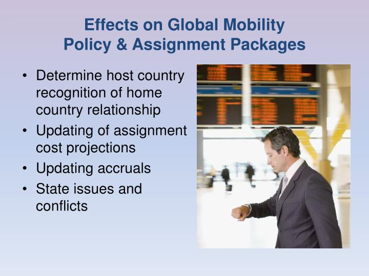 Effects on Global Mobility