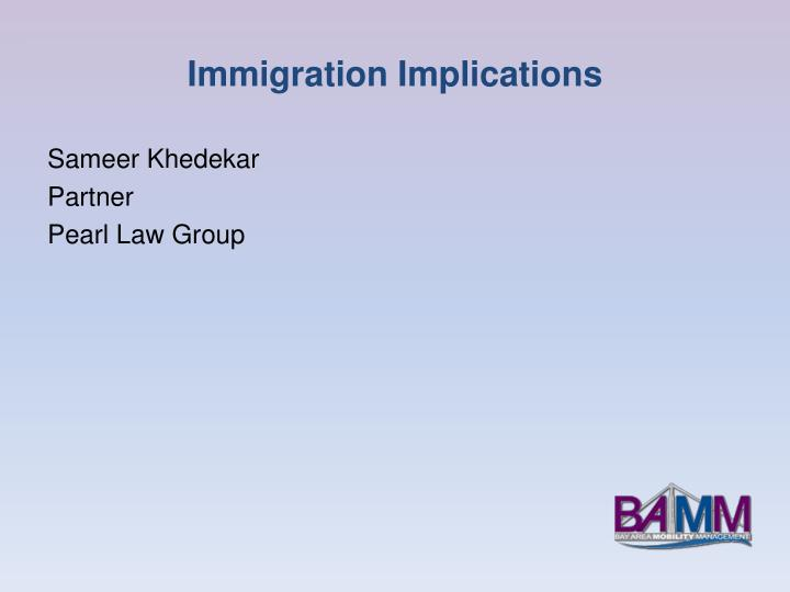 Immigration Implications