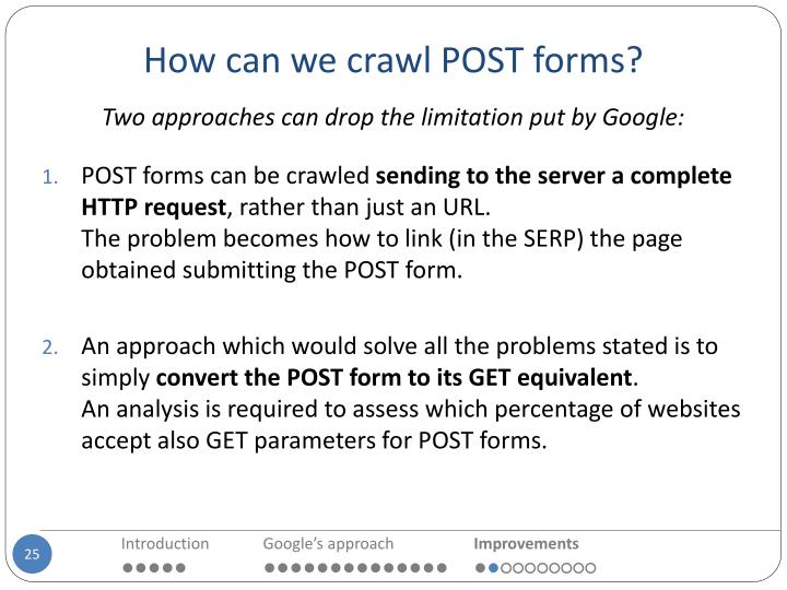 How can we crawl POST forms?