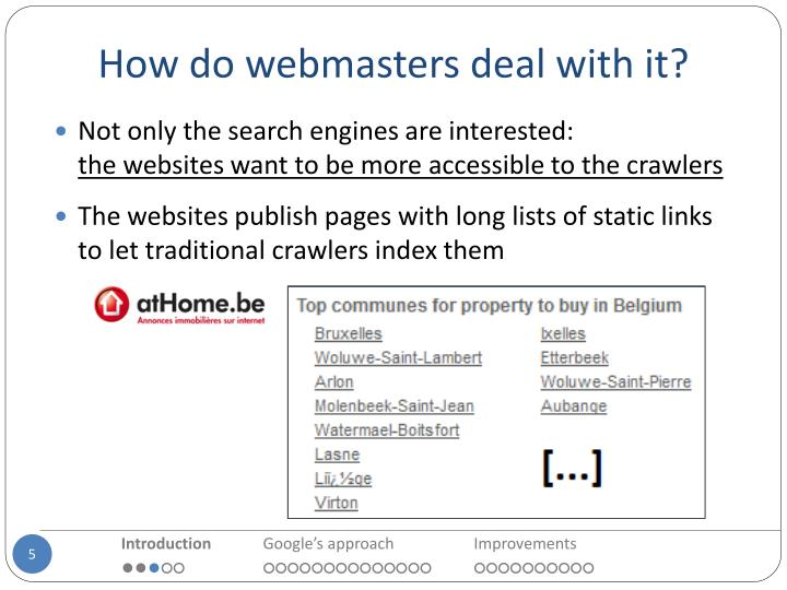 How do webmasters deal with it?