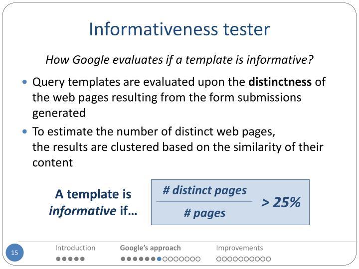 Informativeness tester