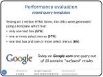 performance evaluation mixed query templates