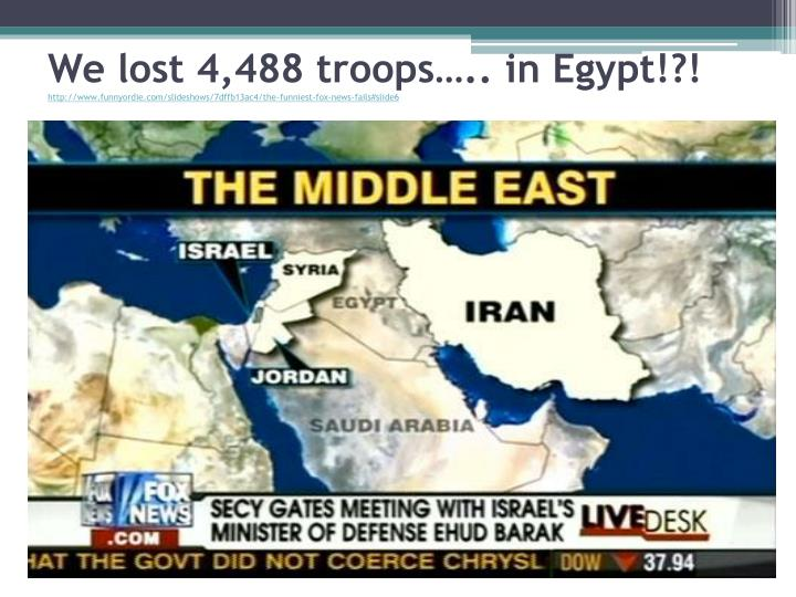 We lost 4,488 troops….. in Egypt!?!