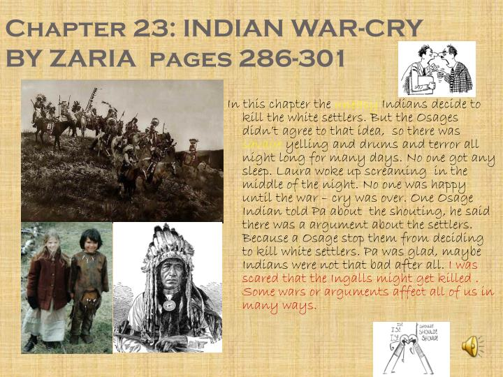 Chapter 23: INDIAN WAR-CRY