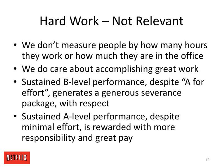 Hard Work – Not Relevant