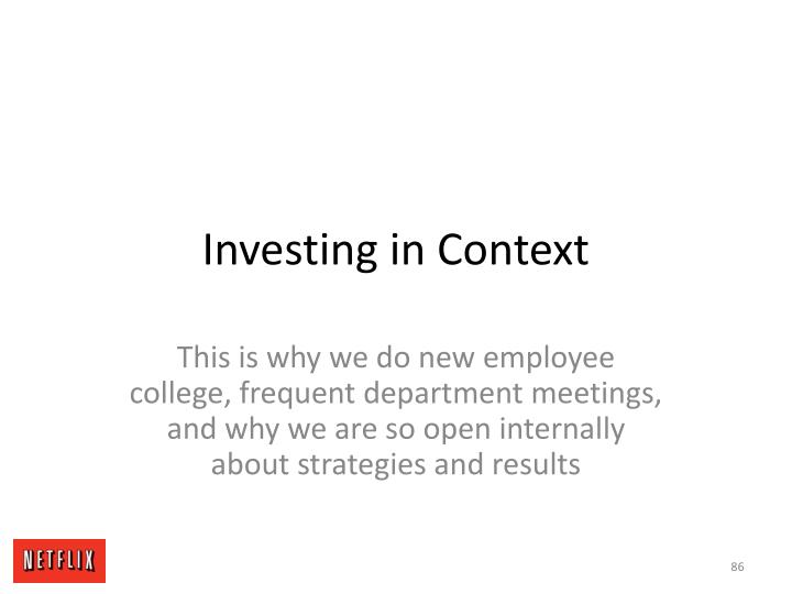 Investing in Context