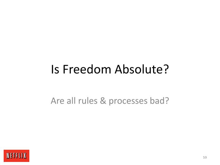 Is Freedom Absolute?