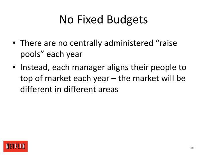 No Fixed Budgets