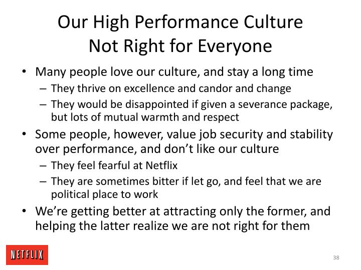 Our High Performance Culture