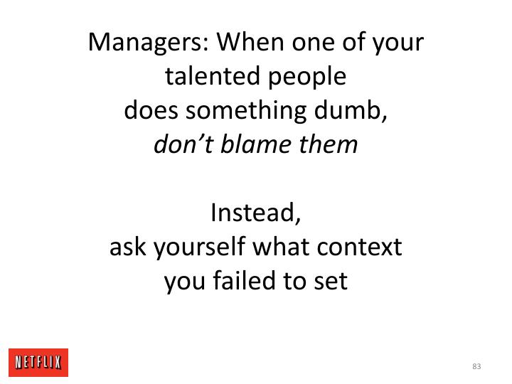 Managers: When one of your talented people