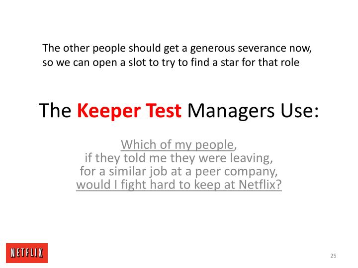 The other people should get a generous severance now,