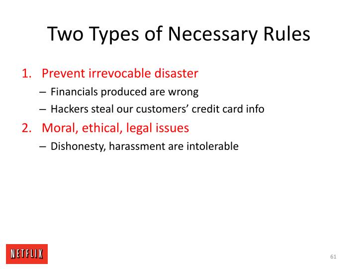 Two Types of Necessary Rules