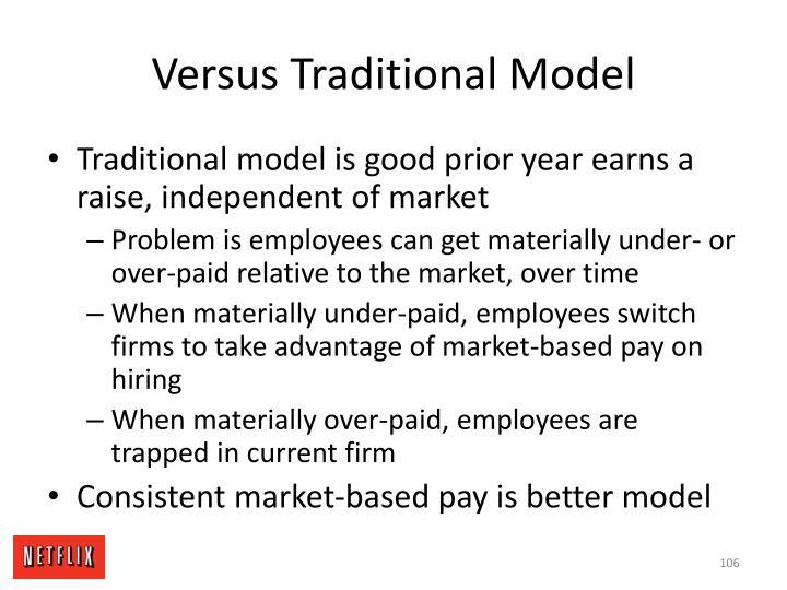 Versus Traditional Model