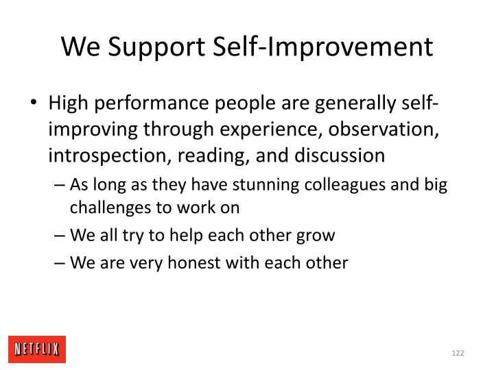 We Support Self-Improvement