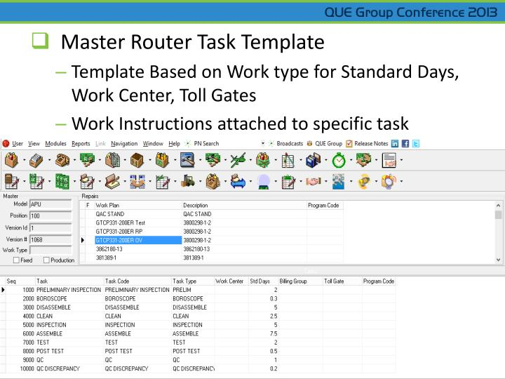 Master Router Task Template