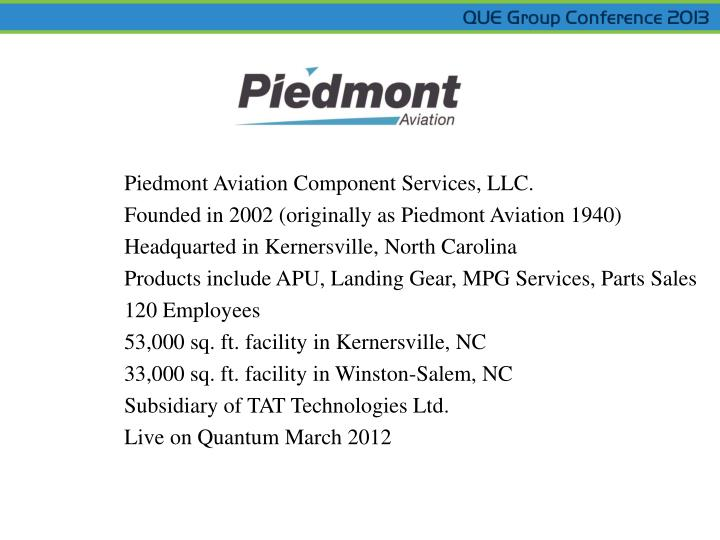 Piedmont Aviation Component Services, LLC.