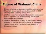 future of walmart china