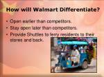 how will walmart differentiate1