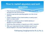 how to install spyware and anti spyware
