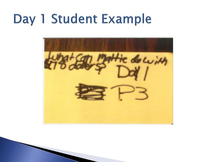 Day 1 Student Example